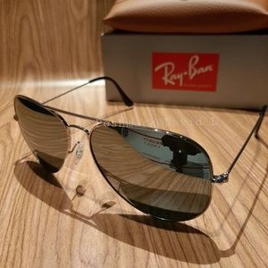 Ray-Ban Aviator Pilot Mirror lenses / Silver Frame